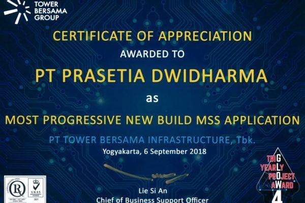 TBG 2018_Most Progressive New Build MSS Aplication