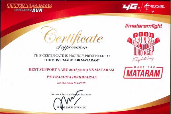 TELKOMSEL 2018- 2019_Best Support NARU 2018-2019 NS Mataram